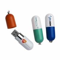 Capsule shape Key Chain Plastic USB