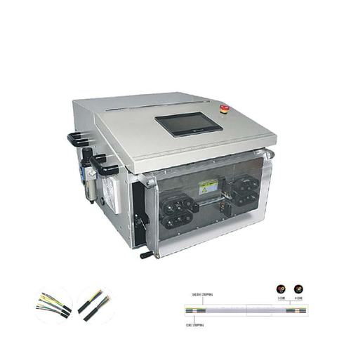Cable Cutting Sheath Peeling and Core Stripping Machine