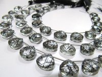 Top Quality Natural Black Rutilated Hydro Quartz beads