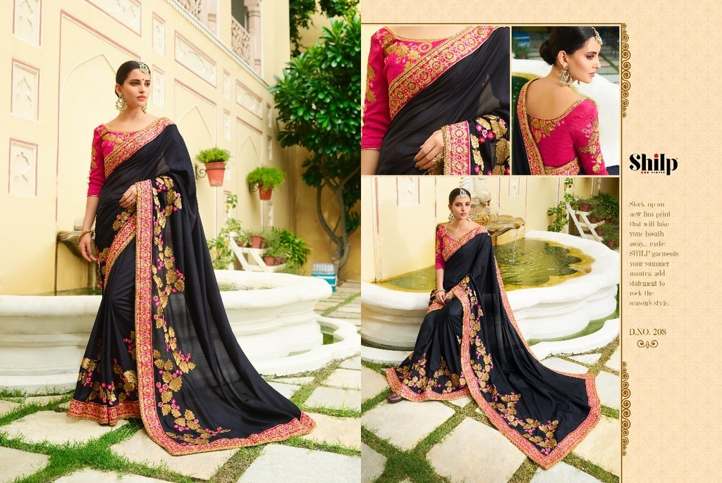 Embroidered Fancy Border Sarees