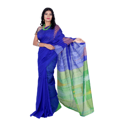 Embroidered Handloom Cotton Silk Saree