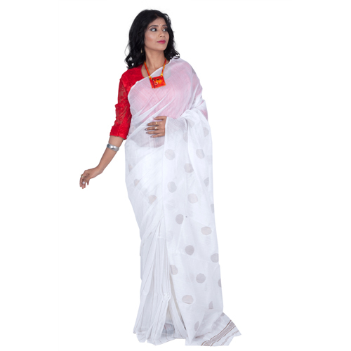 Net Handloom Cotton Silk Saree