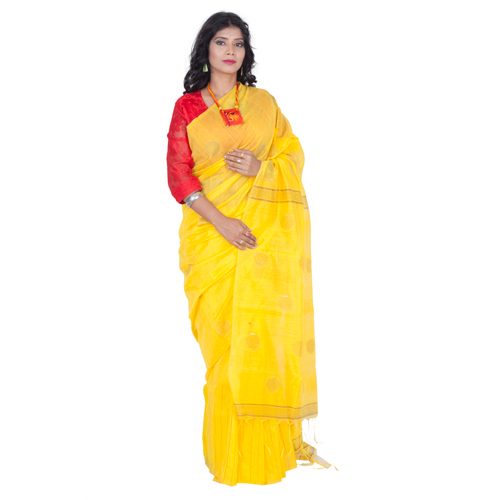 Printed Handloom Cotton Silk Saree