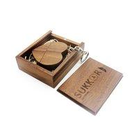 Small heart shaped Jewelry wood USB