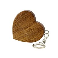Small heart shaped Jewelry wood USB