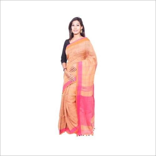 Strip Style Linen Handloom Saree