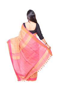 Strip Style Linen Handloom Saree