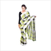 Thread Work Linen Sarees