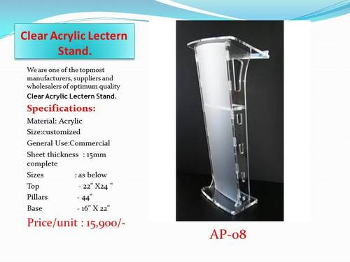 Acrylic Clear Lectern Stand