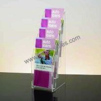 Acrylic Countertop Multipocket Magazine holder