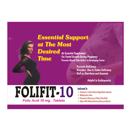Foliifit 10 Folic Acid Tablets
