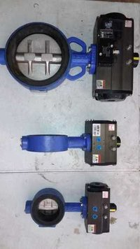 Butterfly valve with Actuators