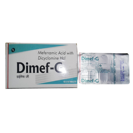 Mefenamic Acid With Dicyclomine HCL Tablets