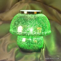 GREEN SILVER GLASS TABLE LAMP, GLASS GREEN AND MORE COLOR TABLE LAMPS