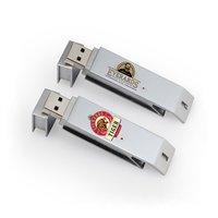 Rectangular Metal finished USB flash drive