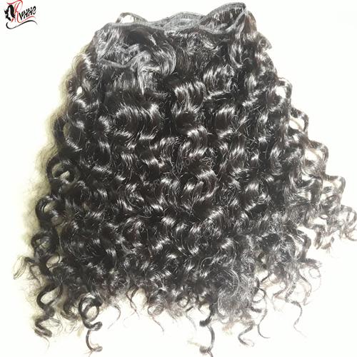 Wholesale curly virgin brazilian human hair extensions