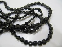 Top Quality Natural Black Spinel Coin Shape Round beads