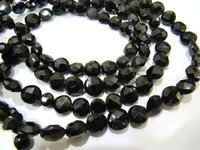 Top Quality Natural Black Spinel Coin Shape beads