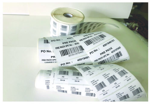 Barcode stickers for Garments