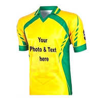 Sports Yellow T-Shirt Printing Service