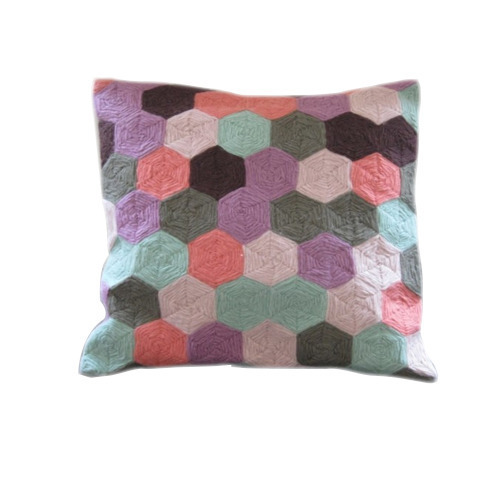 Geometric Chain Stitch Pillow Cover