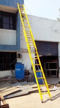 Wall supported Extension Total FRP Ladder