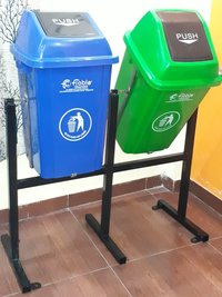 Stainless Steel and plastic Pole Bin Dustbin