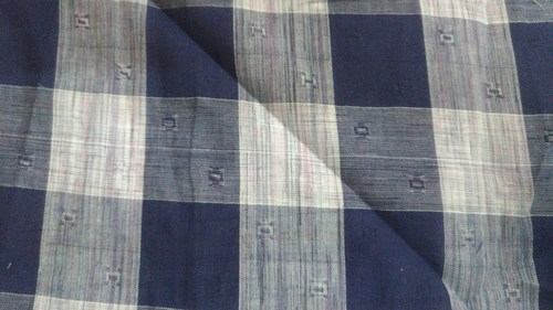 Cotton Check Doby Fabric