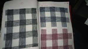 Check Cotton Linen Fabric