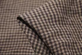 Small Check Cotton Linen Fabric