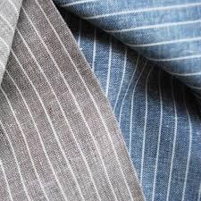 White Stripes Cotton Linen Fabric