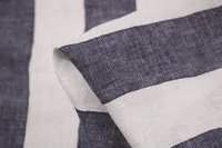 Black & White Cotton Linen Fabric