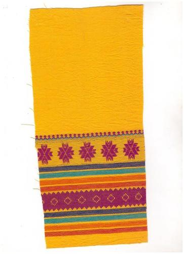 Yellow Cotton Woven Jacquard Fabric