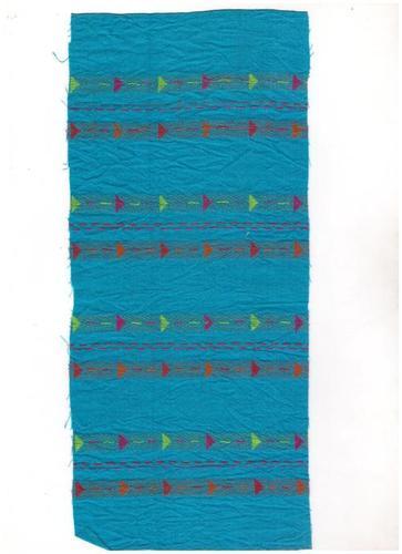 Sky Blue Cotton Woven Jacquard Fabric
