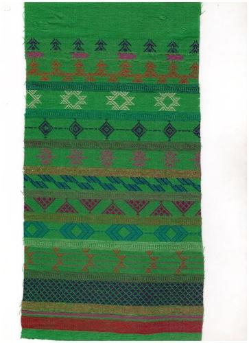 Green Cotton Woven Jacquard Fabric
