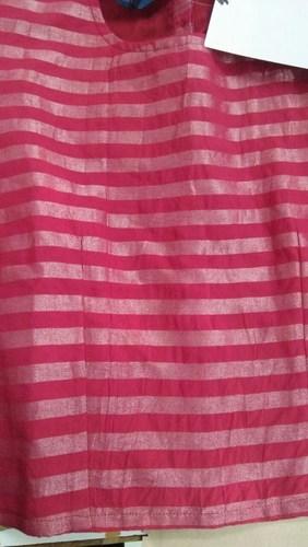 Stripes Cotton Woven Plain Fabric