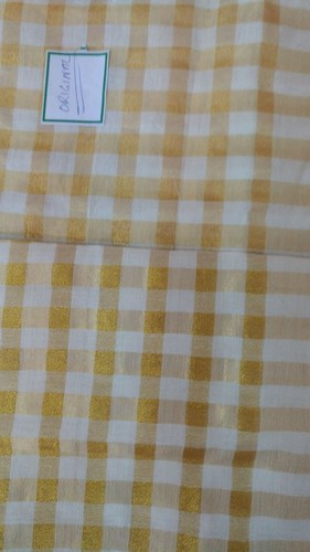 Yellow Cotton Woven Plain Fabric