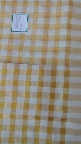 Yellow Cotton Woven Plain Fabric