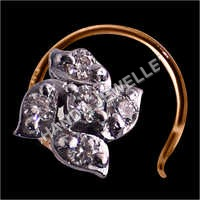 Round Diamond Nose Pin
