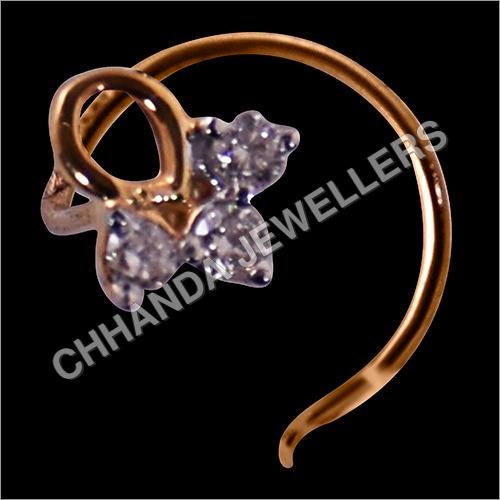 Goud Diamond Studded Nose Pin