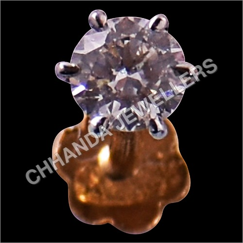 Diamond Single Nose Pin