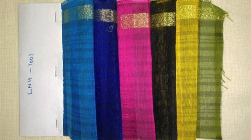 Multi Color Poly Chanderi Fabric