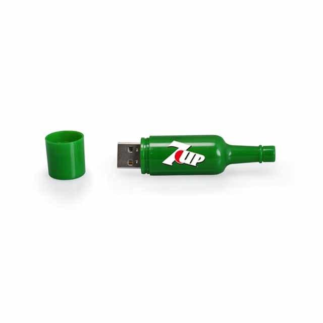 Bottle Shape USB Flash Drive With Customized Logo