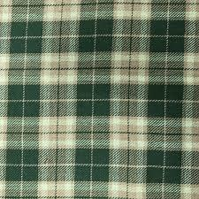 Green Check Viscose Fabric