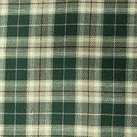 Green Check Viscose Fabric