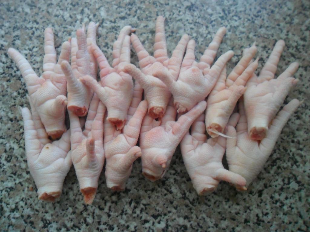 Frozen chicken paws