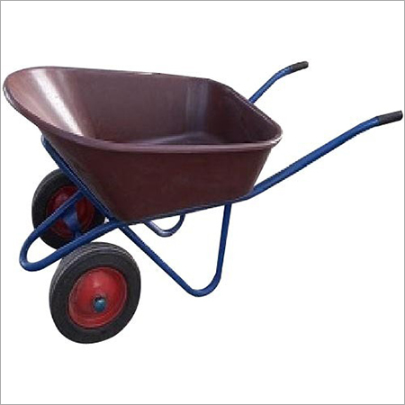 Double Wheel Metal Barrow