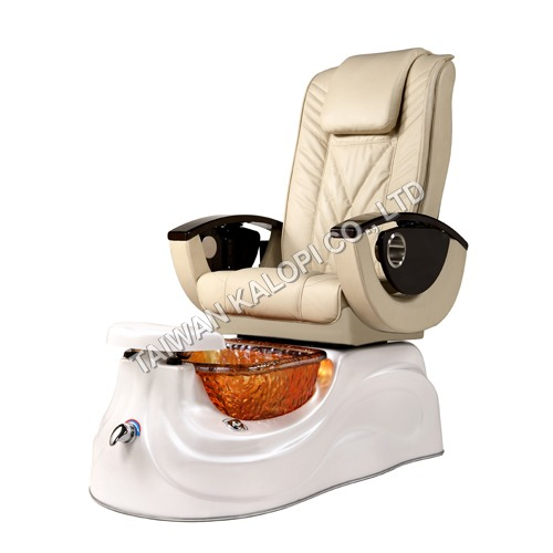 Pipefree Pedicure Spa Chair with Glass Bowl