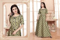 Long Anarkali Print Kurtis