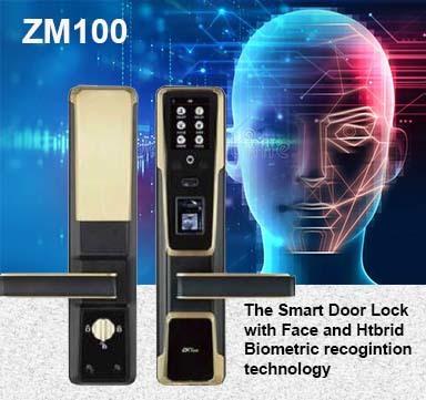 ZM100 SMART DOOR LOCK WITH FACE, FINGERPRINT AND RFID CARD
